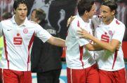 Einst gemeinsam bei Rot-Weiss Essen - von links: Lukas Lenz, Leon Enzmann, Alexander Thamm.