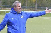 Trainer Holger Siska coacht das Kreisligaspiel seines SV Hessler.