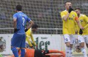 Almir Sogolj (vorne) vom Landesligisten SV Scherpenberg bejubelt seinen Treffer.