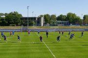 Der MSV Duisburg im Training. Jetzt wissen die Zebras auch, wann es weitergehen wird (