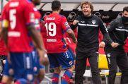 Adriano Grimaldi, der Stürmer, der sonst für die Tore sorgt, musste in Jena bereits in der ersten Halbzeit ausgewechselt werden.