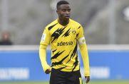War auch gegen die U19 von Rot-Weiss Essen erfolgreich: BVB-Talent Youssoufa Moukoko.