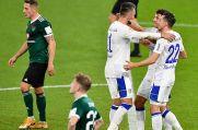 Endlich: Die Schalke-Profis dürfen einen Sieg bejubeln.