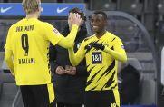 Zwei junge Stürmer, die beim BVB durchgestartet sind: Erling Haaland (links) und Youssoufa Moukoko (rechts).