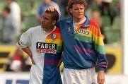Torsten Kracht (rechts), hier mit Delron Buckley, verbrachte zwischen 1995 und 1999 vier Jahre beim VfL Bochum.