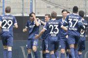 Die Spieler des VfL Bochum bejubeln das 2:1 von Gerrit Holtmann (2. von links).