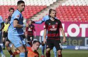 VfL Bochums Robert Zulj (vorne) markiert den 1:1-Endstand gegen den 1. FC Nürnberg.