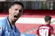 VfL BOchums Robert Zulj bejubelt seine Ausgleichstreffer gegen den 1. FC Nürnberg.
