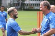 Selim Gündüz (links) und Peter Neururer könnten bald beim Wuppertaler SV zusammenarbeiten.