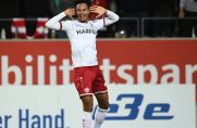 Ayo Adetula (hier noch im RWE-Trikot) bejubelt seinen Treffer gegen den Bonner SC. Er hat große Ziele.