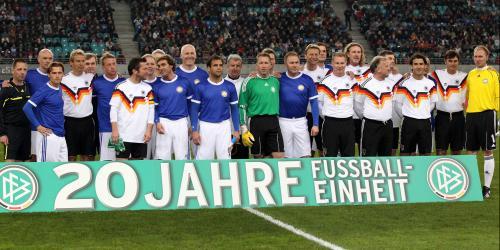 DFB feiert: 20 Jahre Fußballvereinigung