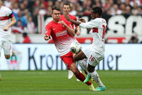 VfB Stuttgart, SC Freiburg, Ibrahima Traore, Felix Klaus, Saison 2013/2014, VfB Stuttgart, SC Freiburg, Ibrahima Traore, Felix Klaus, Saison 2013/2014