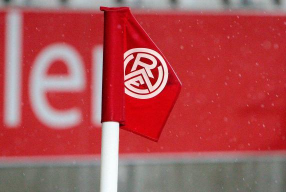 Rot-Weiss Essen, RWE, Eckfahne, Stadion Essen, Rot-Weiss Essen, RWE, Eckfahne, Stadion Essen