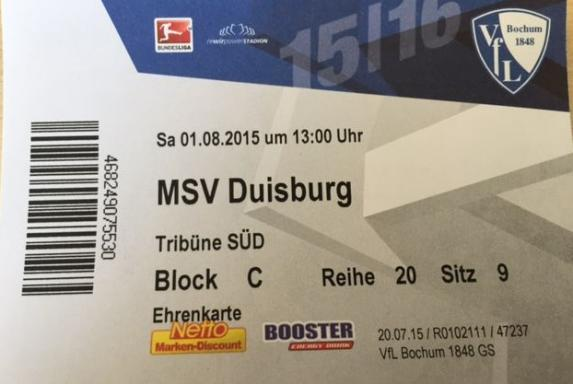 Gewinnspiel: 4x2 Sitzplatzkarten für Bochum gegen Duisburg
