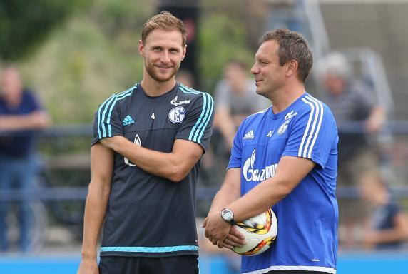 Benedikt Höwedes, André Breitenreiter, FC Schalke 04.