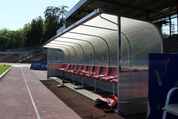 Trainerbank, Symbol, Saison 15/16, RWO-Borussia Mönchengladbach 2, Trainerbank, Symbol, Saison 15/16, RWO-Borussia Mönchengladbach 2
