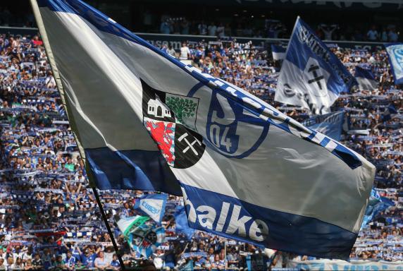 Schalke, Fans, Fahne.
