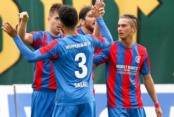 Wuppertaler SV, Marvin Ellmann, Noah Salau, Enes Topal, Saison 2015/16, Wuppertaler SV, Marvin Ellmann, Noah Salau, Enes Topal, Saison 2015/16