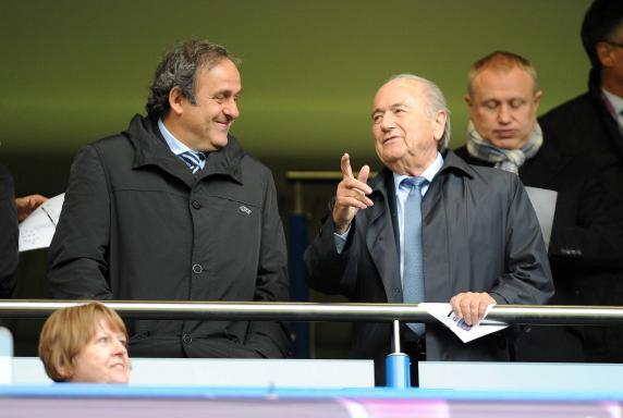 Sepp Blatter, Joseph Blatter, Michel Platini, Sven Heinze, Sepp Blatter, Joseph Blatter, Michel Platini, Sven Heinze