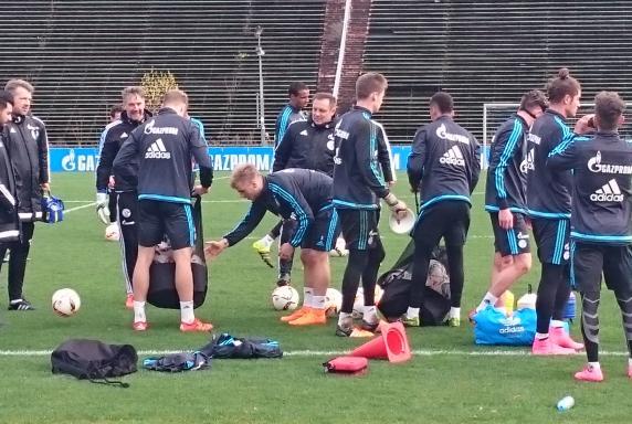 Schalke-Training.