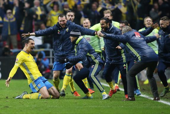 Zlatan Ibrahimovic, Schweden, Jubel.