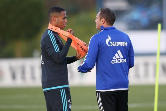 Dennis Aogo, Trainer André Breitenreiter, FC Schalke 04.