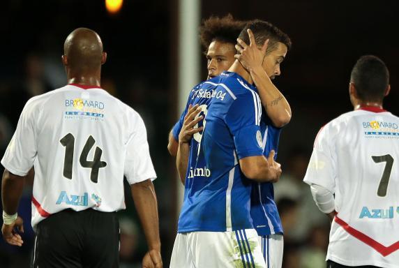 Di Santo, Sané, FC Schalke 04.