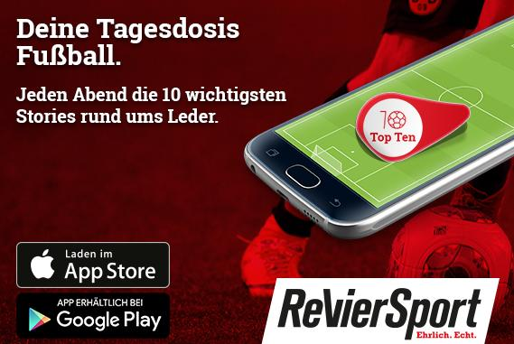 """App: """"RevierSport Top 10"""" - jeden Abend um 19:30 Uhr"""