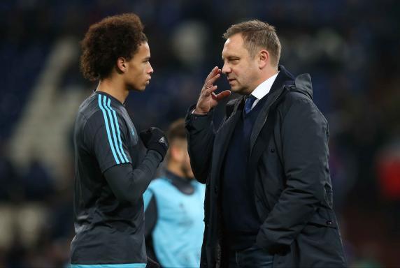 Leroy Sané, Trainer André Breitenreiter, FC Schalke 04.
