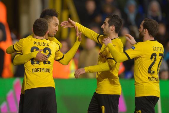 Tottenham - BVB, Borussia Dortmund, BVB-Jubel, Tottenham - BVB, Borussia Dortmund, BVB-Jubel