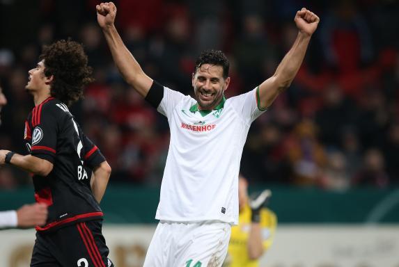 Jubel, Werder Bremen, Claudio Pizarro, DFB-Pokal, Saison 2015/16, Jubel, Werder Bremen, Claudio Pizarro, DFB-Pokal, Saison 2015/16