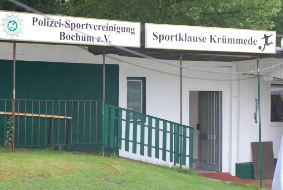 Platzanlage PSV Bochum, Polizei-Sportvereinigung Bochum, Sportklause Krümmede, Vereinshaus, Platzanlage PSV Bochum, Polizei-Sportvereinigung Bochum, Sportklause Krümmede, Vereinshaus