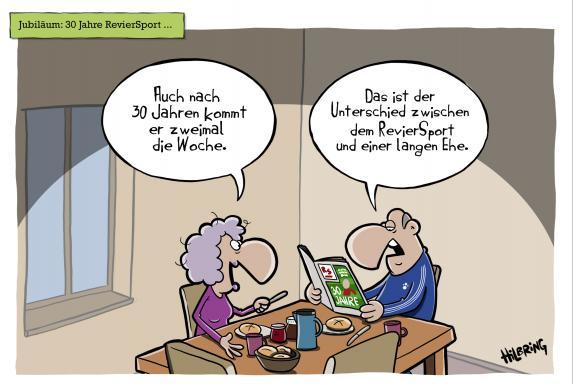 reviersport, Oli Hilbring, Cartoon, reviersport, Oli Hilbring, Cartoon