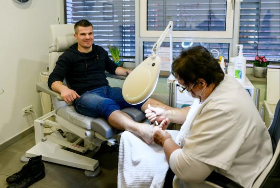 SV Horst-Emscher: Ex-Profi Wingerter ist ein Fan der Fußpflege