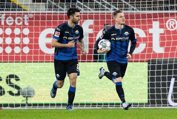 Marlon Ritter (rechts) bestritt elf Bundesligaspiele für den SC Paderborn.