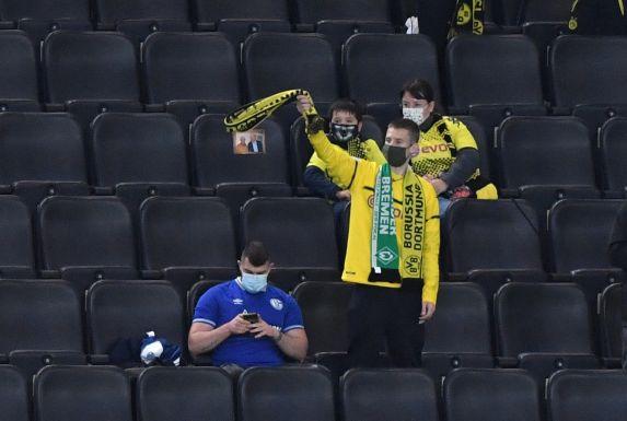 Ein Schalke-Fan hat es in den Dortmunder Signal-Iduna-Park geschafft.