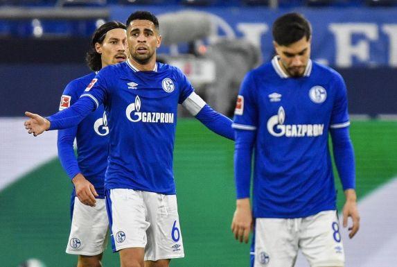 Konsternierte Schalker: Suat Serdar (vorne), Omar Mascarell (MItte) und Benjamin Stambouli.