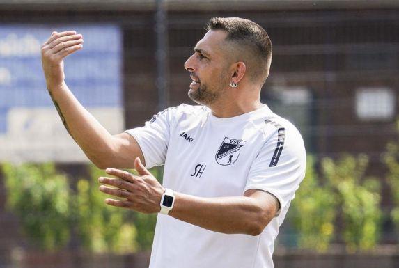 Trainer Sascha Hense vom Vogelheimer SV.