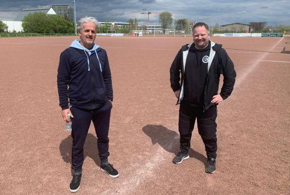Christian Pollerhoff (li.) und Jan Bernecker vom SV Kray 04. (