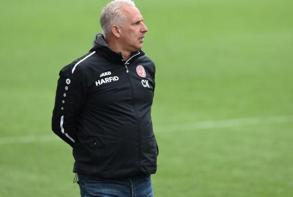 Nach dem Pokal-Aus richtet RWE-Coach Christian Neidhart den Blick auf das Saisonfinale.