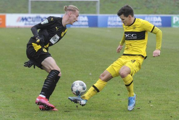Florian Krebs und seine Dortmunder Kollegen hatten im Hinspiel gegen Nicholas Hirschberger und den VfB einige Probleme.