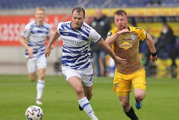 Vincent Gembalies (links) bleibt dem MSV Duisburg treu.