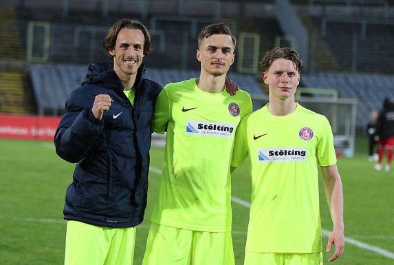 Von links: Mateo Aramburu, Moritz Römling und Joey Müller verlassen den Wuppertaler SV.