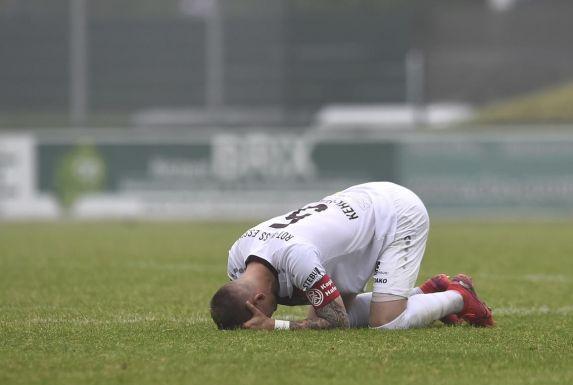 Große Enttäuschung beim RWE-Kapitän Marco Kehl-Gomez.