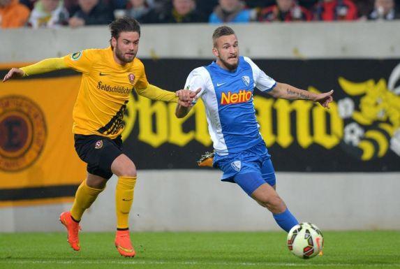 Fabian Holthaus, hier für den VfL Bochum, wechselt zu Rot-Weiß Oberhausen.
