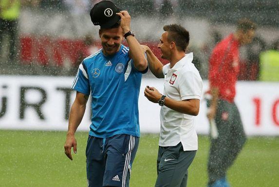 Lukas Podolski mit seinem Kumpel Slawomir Peszko. Beide spielten einst für den 1. FC Köln.