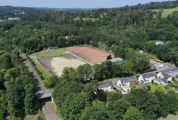 Multikopter-Aufnahme der Sportanlage des VfL Kupferdreh vom 17. Juli.