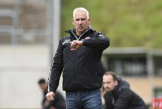 RWE-Trainer Christian Neidhart. Foto: Thorsten Tillmann