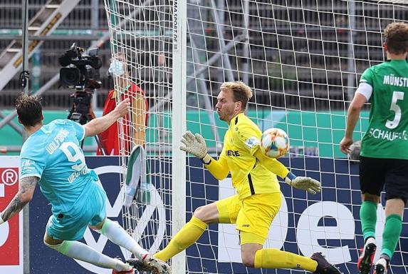DFB-Pokal: Münster hatte Wolfsburg am Rand der Niederlage