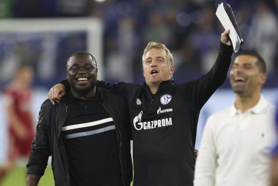 Schalke, Asamoah, Büskens, Schalke, Asamoah, Büskens